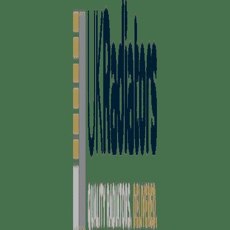 Diva - Black Electric Towel Rail - H1200mm x W500mm - 400w Standard