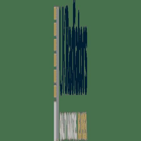 Zeno - Black Heated Towel Rail - H1600mm x W400mm - Curved