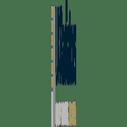 Stelrad Column - White Vertical Column Radiator - H2000mm x W352mm - 2 Column