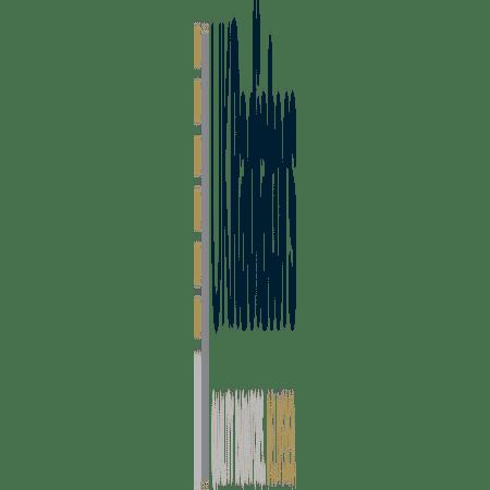 Omega - Black Vertical Radiator - H1600mm x W348mm - Single Panel