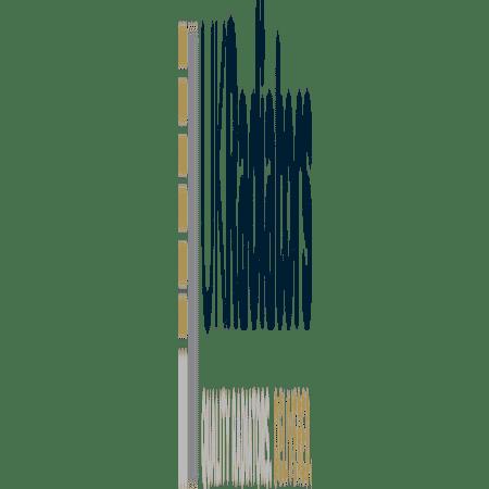 Omega - Black Vertical Radiator - H1600mm x W464mm - Single Panel