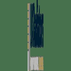 Omega - White Vertical Radiator - H1800mm x W290mm - Single Panel